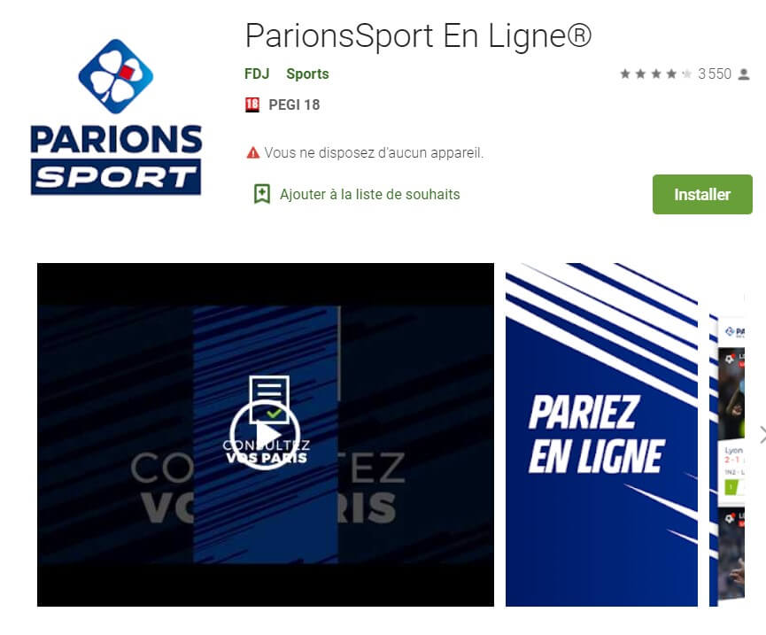 Application Parions Sport
